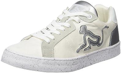 DrunknMunky New England Shiny, Baskets Femme, Blanc (White-Silver 090), 39 EU