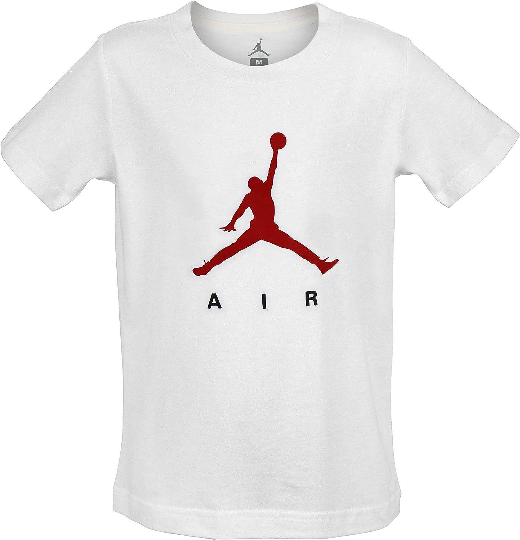 Nike Boys Jordan Jumpan Logo T-Shirt White Medium