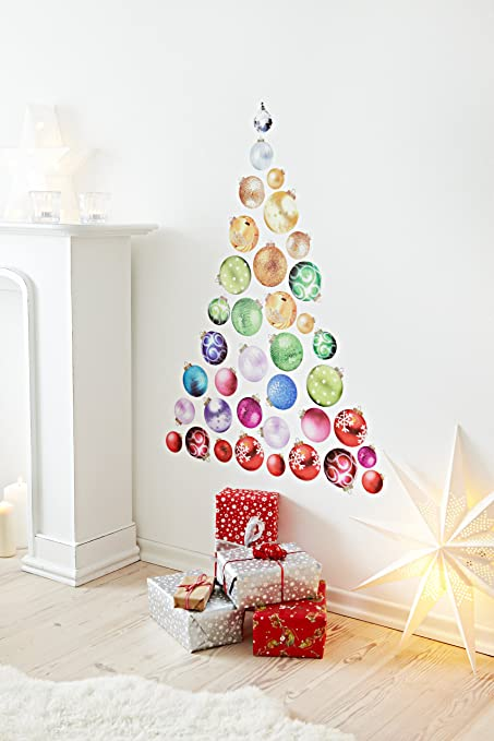 Heitmann deco 91594 christmas tree with baubles to decorate heitmann deco 91594 christmas tree with baubles to decorate yourself diy wall sticker plastic solutioingenieria Image collections