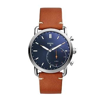 Amazon.com: Fossil Hybrid Smartwatch - Q Commuter Dark Brown ...