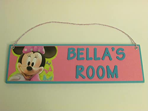 Amazon.com: Minnie Mouse Personalzied Name Room Wall Sign ...