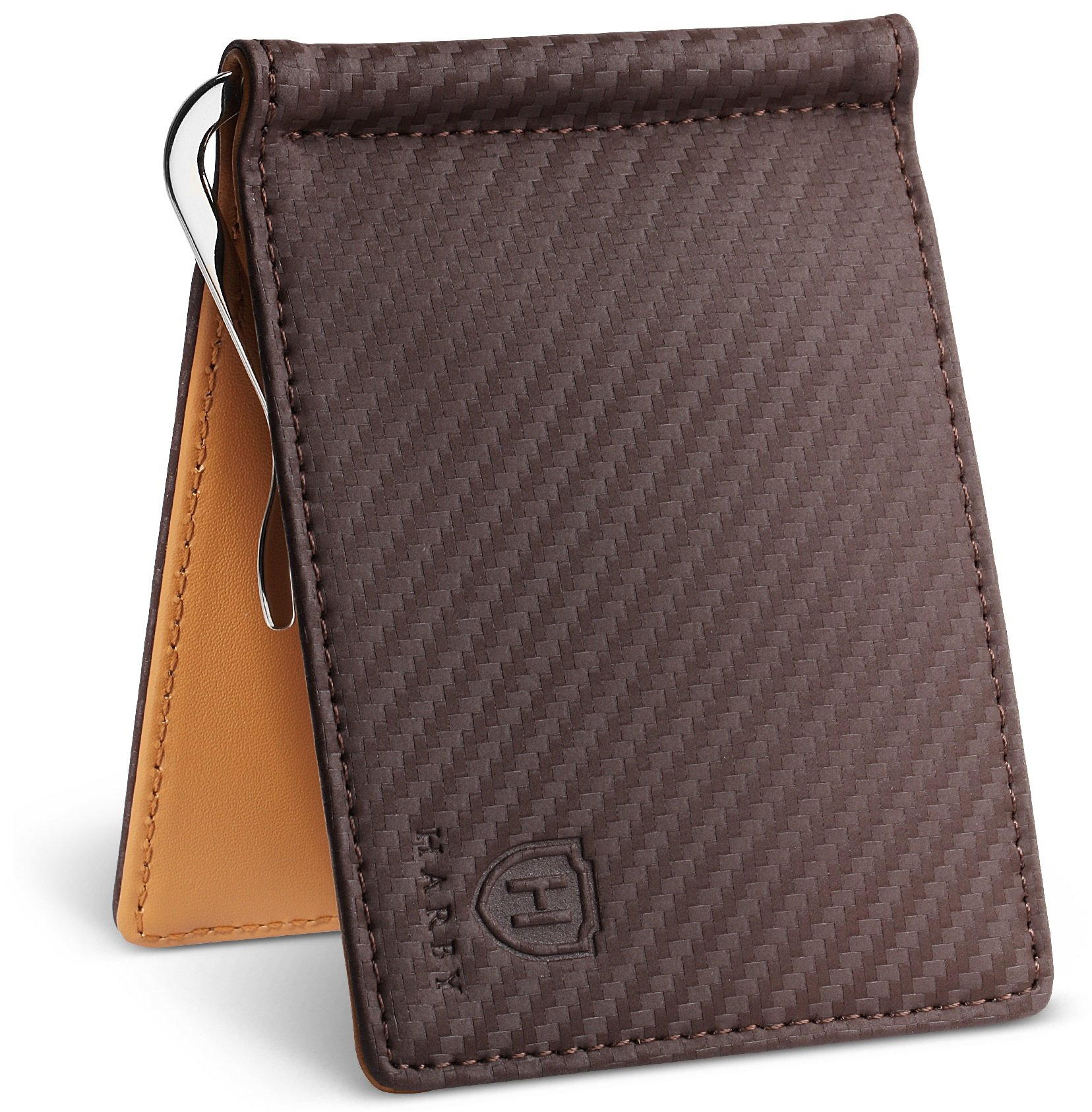 Harby Money Clip Wallet (Brown/Yellow)