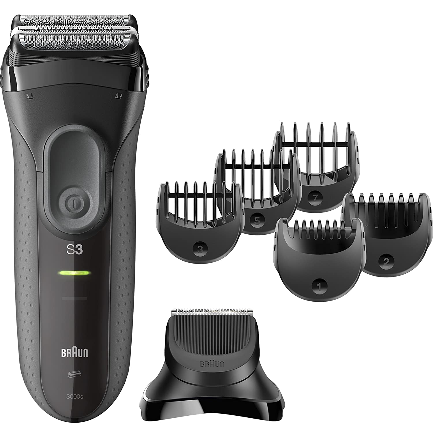 Braun Series 3 Shave & Style 3000BT 3-in-1 Electric Shaver/Razor for Men with Precision Beard Trimmer S3 3000 BT