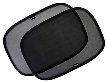 """Enovoe Car Window Shade - (4 Pack) - 21""""x14"""" Cling Sunshade for Car Windows - Sun, Glare and UV Rays Protection for Your Child - Baby Side Window Car Sun Shades"""