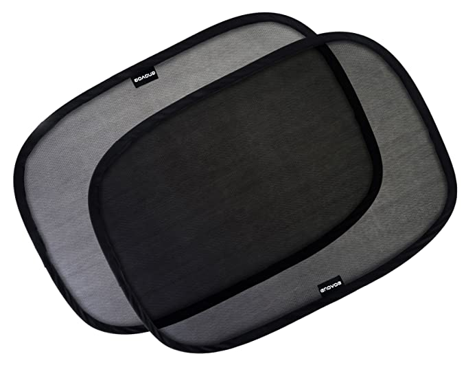 """Enovoe Car Window Shade - (3 Pack) - 21""""x14"""" Cling Sunshade For Car Windows - Sun, Glare And UV Rays Protection For Your Child - Baby Side Window Car Sun Shades-Best-Popular-Product"""