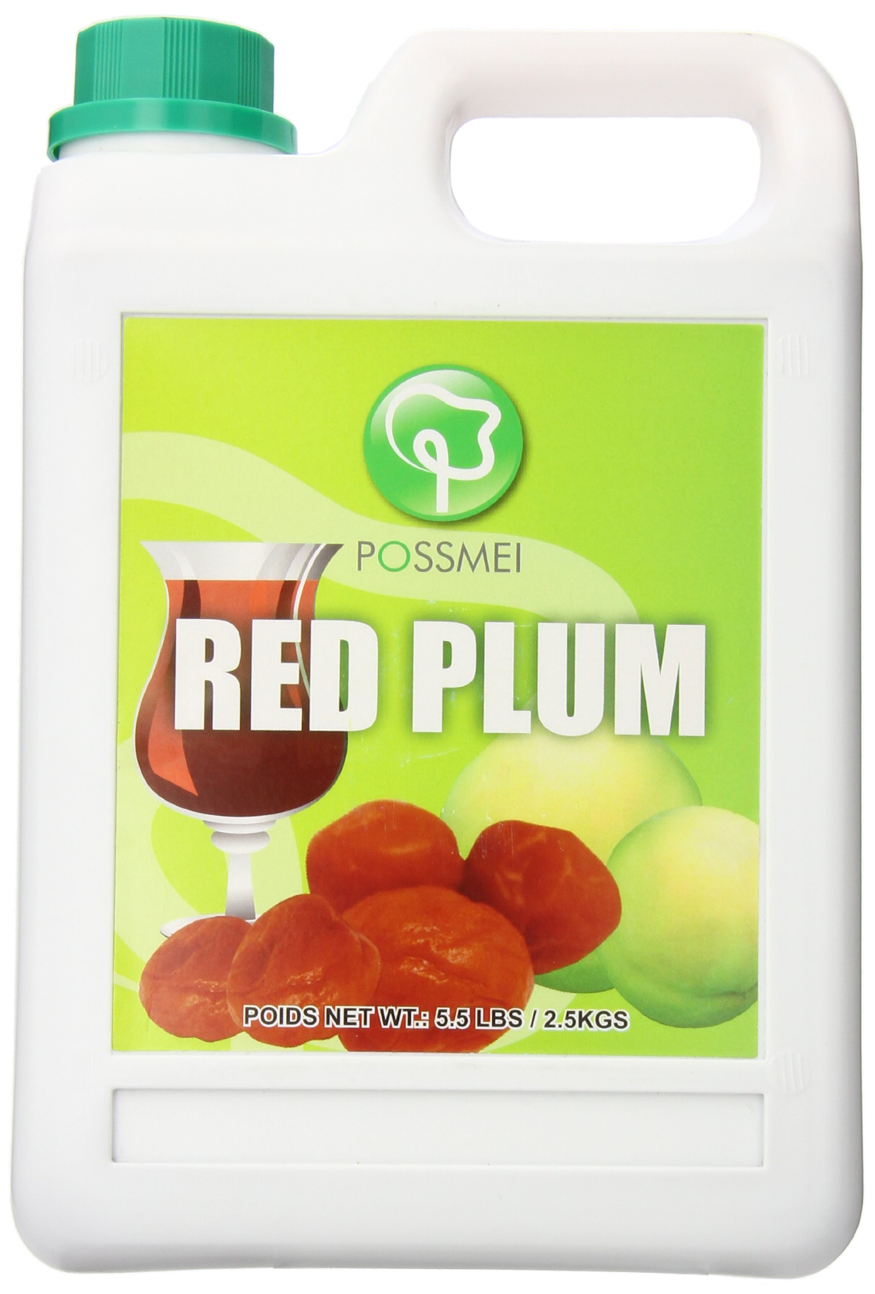 Possmei Flavored Syrup, Red Plum, 5.5 Pound