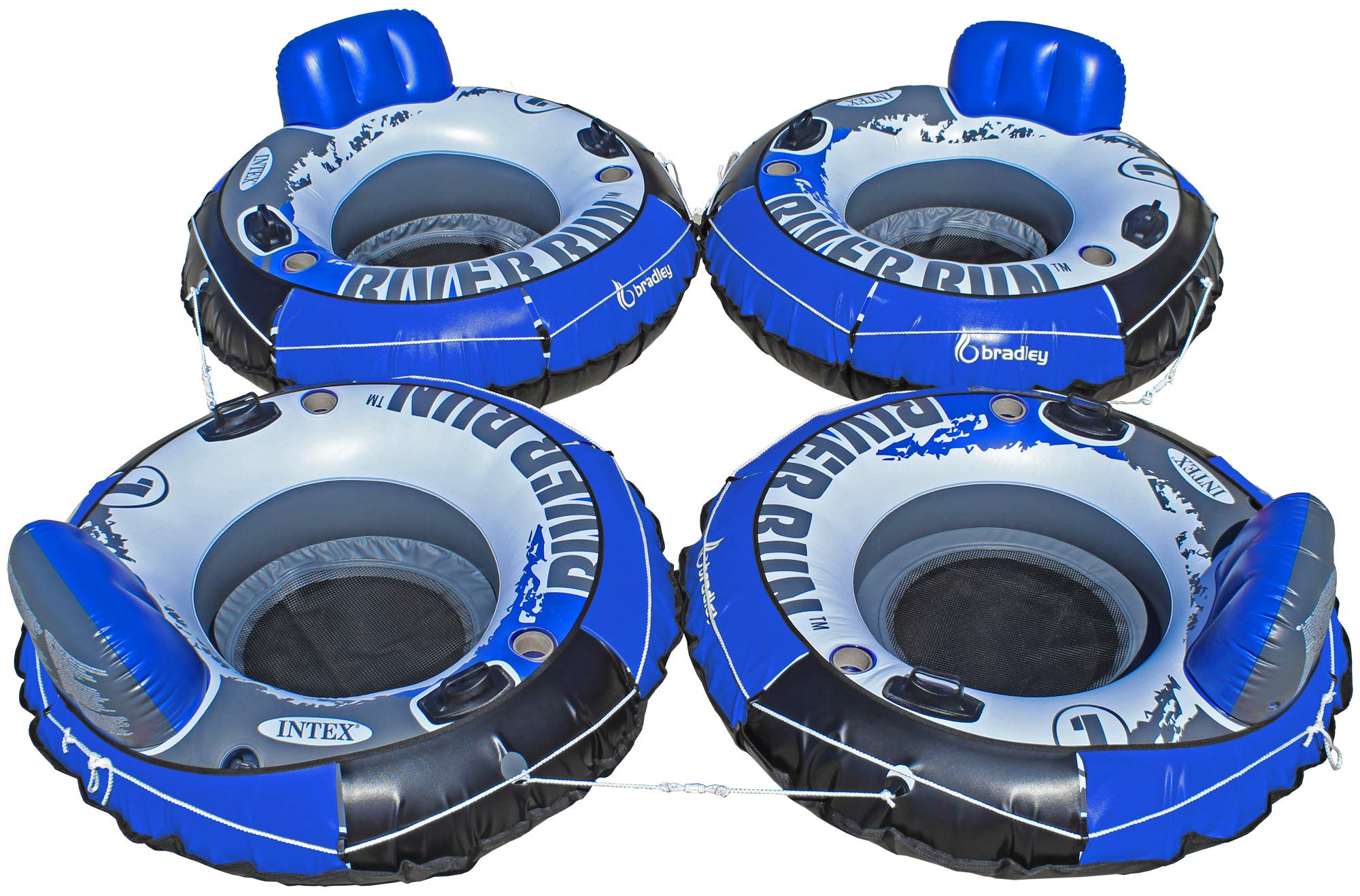 Intex Heavy Duty River Run Tube with Cover (4 Pack)   Floating Lounger   River Tube