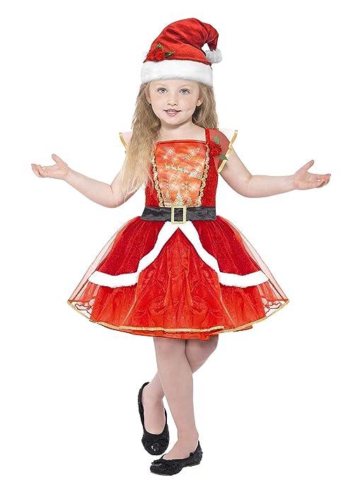 Smiffys 21832 – M disfraz de Miss de Papá Noel de los niños (Tamaño Mediano)