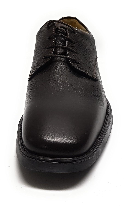 Manz T.d. Softflex Ago Herren Schuhe T.d. Manz More Cow-Milled H 4801-7 Laufsohle TR Dunkelbraun - c50837