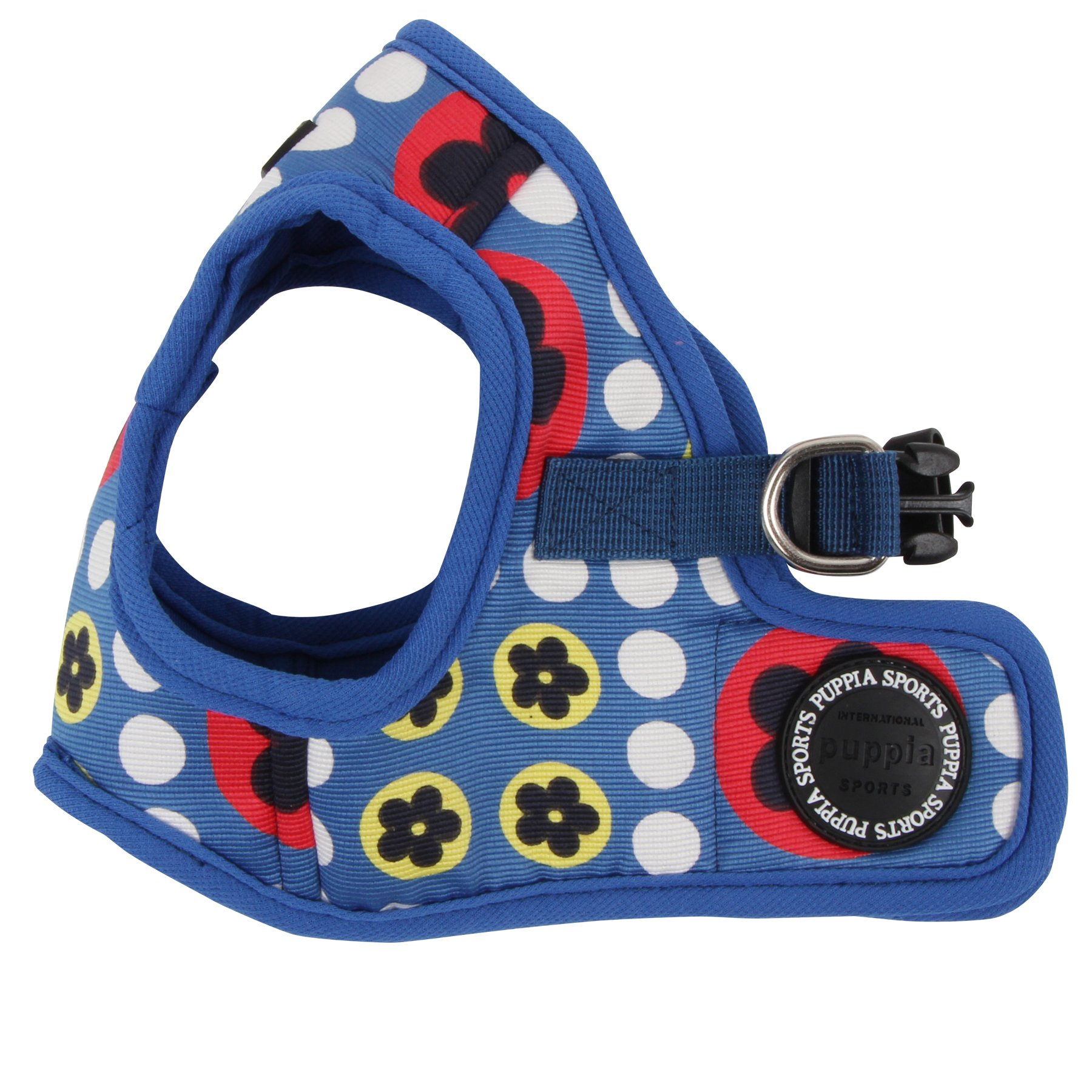 Puppia Authentic Blossom Vest Harness B, Medium, Royal Blue