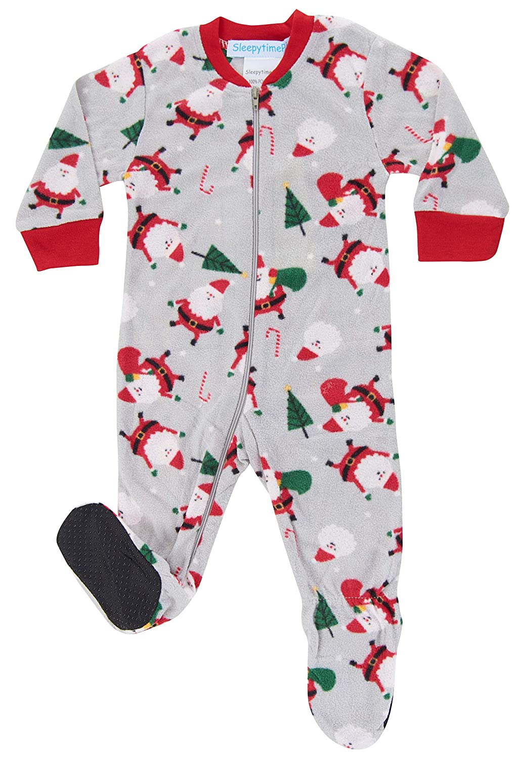 SleepytimePJs Holiday Infant Full-Zip Onesie Baby Pajamas PJs