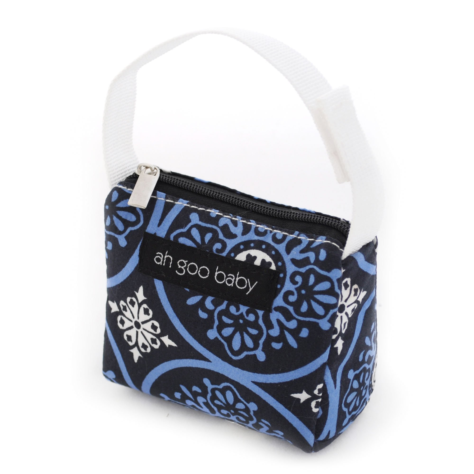 Ah Goo Baby Pacifier Holder and Tote, Blueberry Pattern