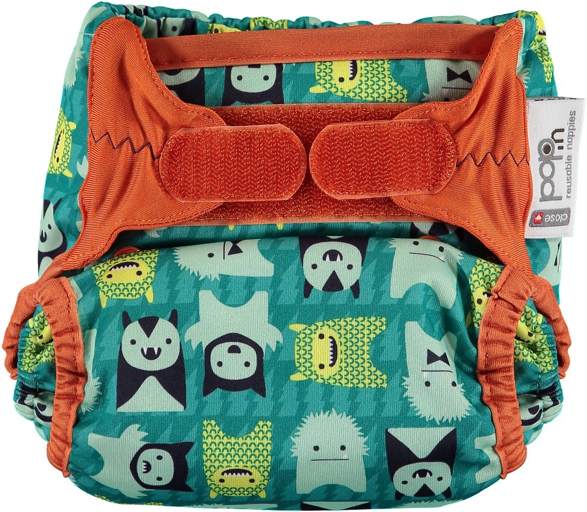 Close Pop-In 228172 Cloth Nappy with Bamboo Pad Herman Monster