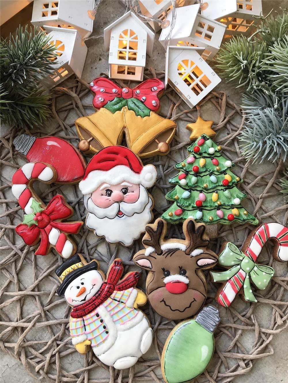 9,4 x 11,8 cm Acero Inoxidable KENIAO Navidad Cortadores Galletas Monigote de Nieve Invierno