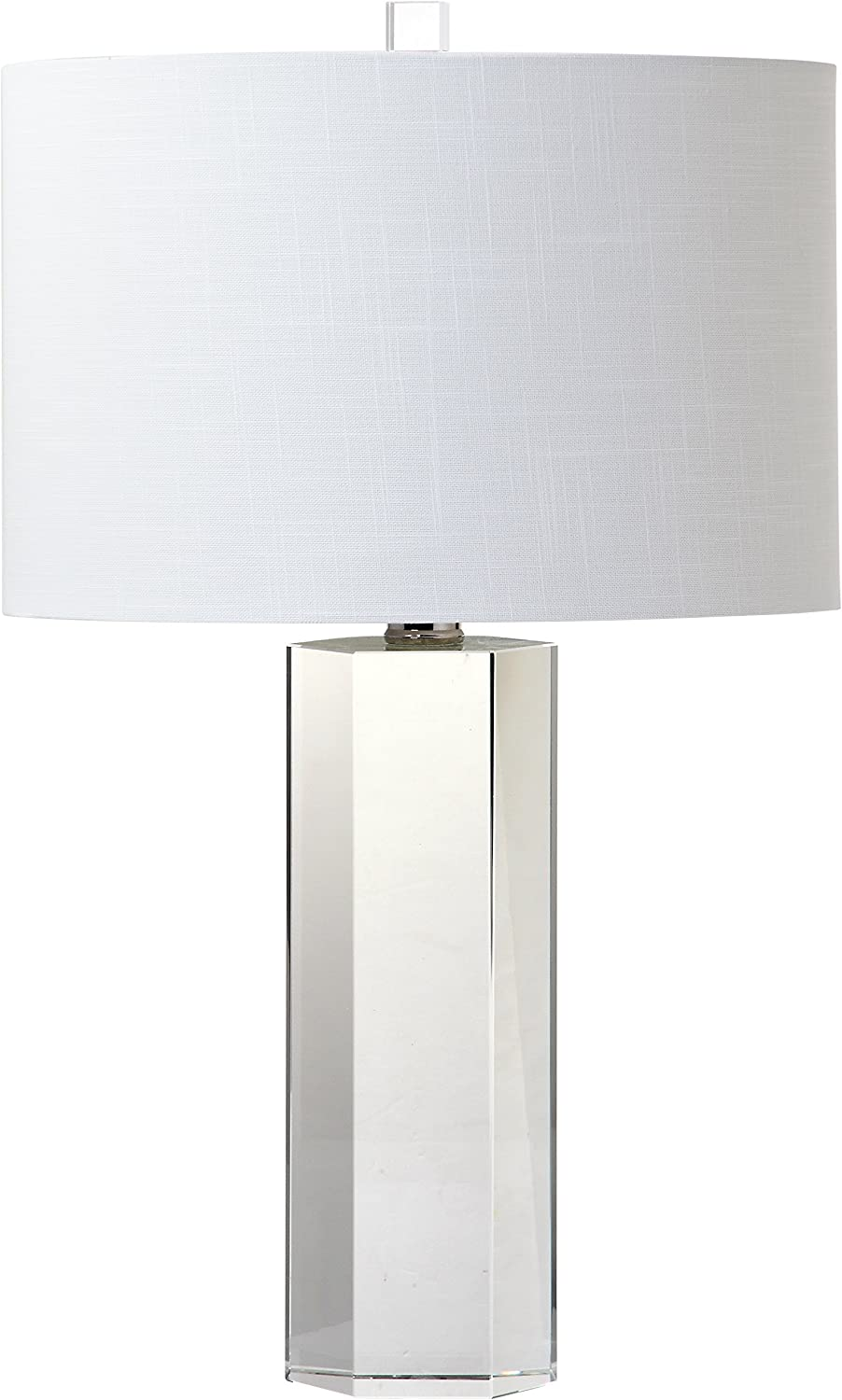 "Decorator's Lighting 15333 Hexagonal Crystal Table Lamp, 25"" H"