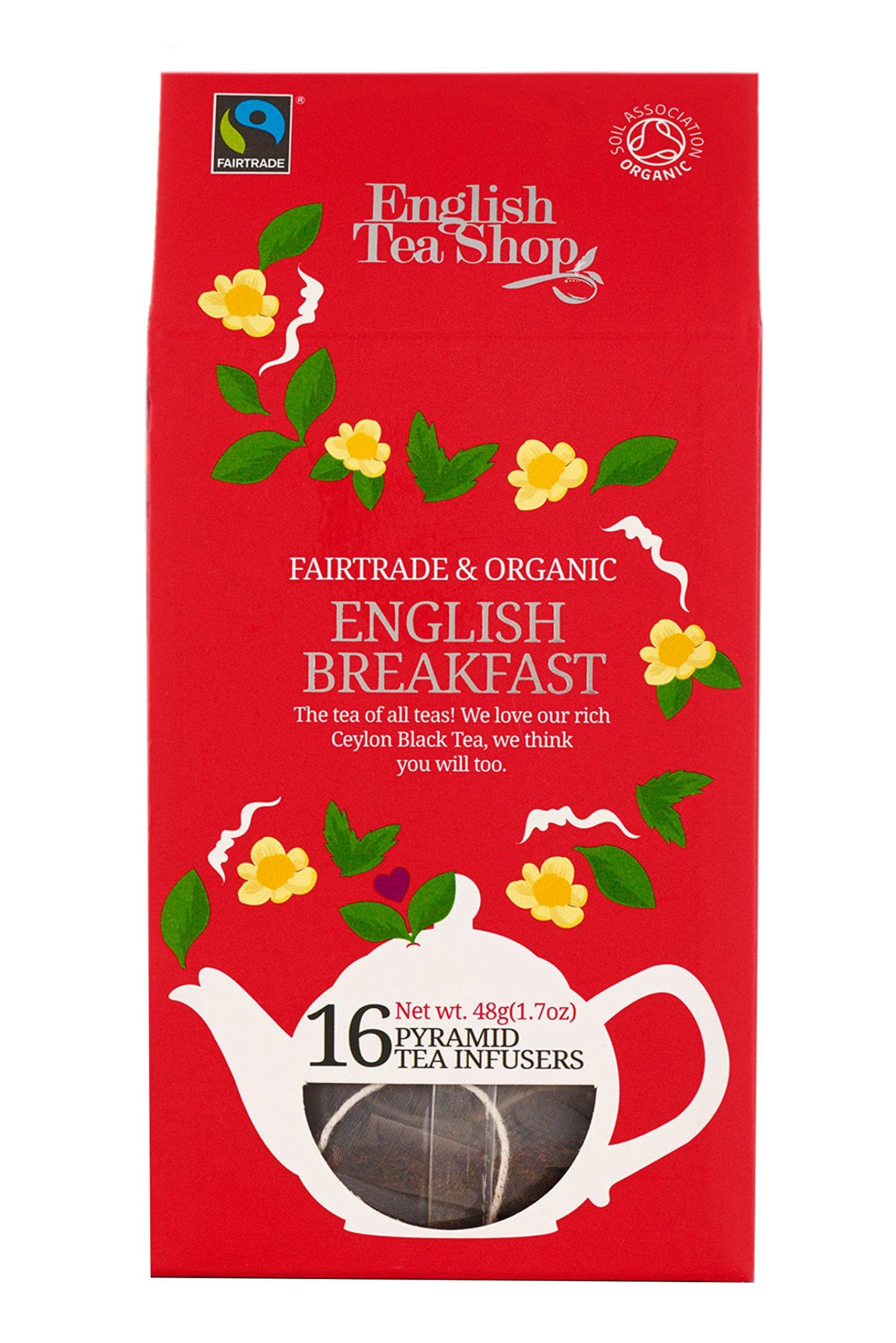English Tea Shop English Breakfast Pyramids, 48 Gram (Pack of 6)