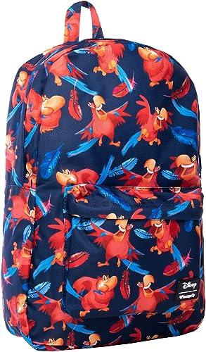 Loungefly x Disney Aladdin Iago Print Nylon Backpack Multicolored, One Size