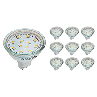 LED Lampen MR16 SEBSON LED GU5.3 MR16 12V GU5.3-10x LED MR16 warmweiss 4W