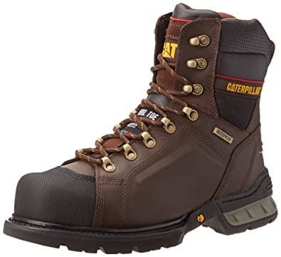 Amazon.com | Caterpillar Men's Excavator 8-Inch WP FF Work Boot ...