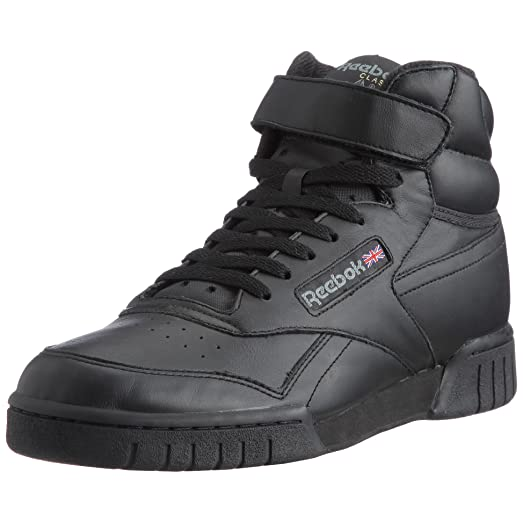 Reebok Ex-O-Fit Hi Mens Trainers Black 3478, Size:41