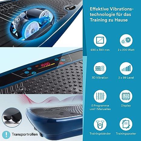 skandika Home Vibration Plate V1 Twin Engine Vibrationsplatte Profi Shaper weiß