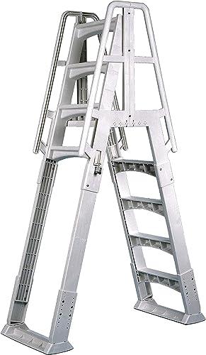 Vinyl-Works-SLA-A-Frame-48-56-Inch-Adjustable-Above-Ground-Swimming-Pool-Ladder