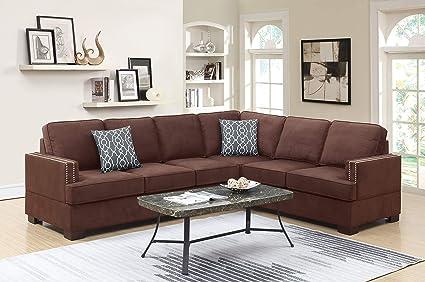 Amazon.com: Esofastore Contemporary Beautiful Sectional Sofa ...
