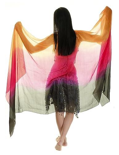 Velo de seda para baile de danza del vientre