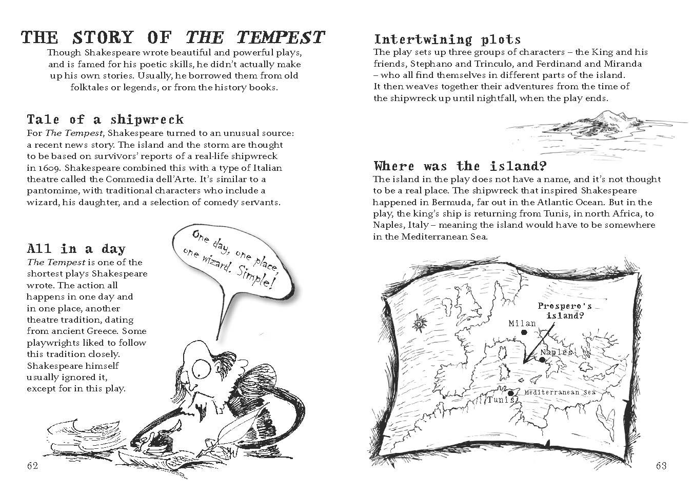 a character analysis of the story the tempest The smh the tempest depicts many close-up images of the characters or portions of their bodies such as the hands or eyes the effect of this is that the character and emotion of the play is highlighted by drawing the reader's attention to expressions and gestures rather than the physical action of the play.