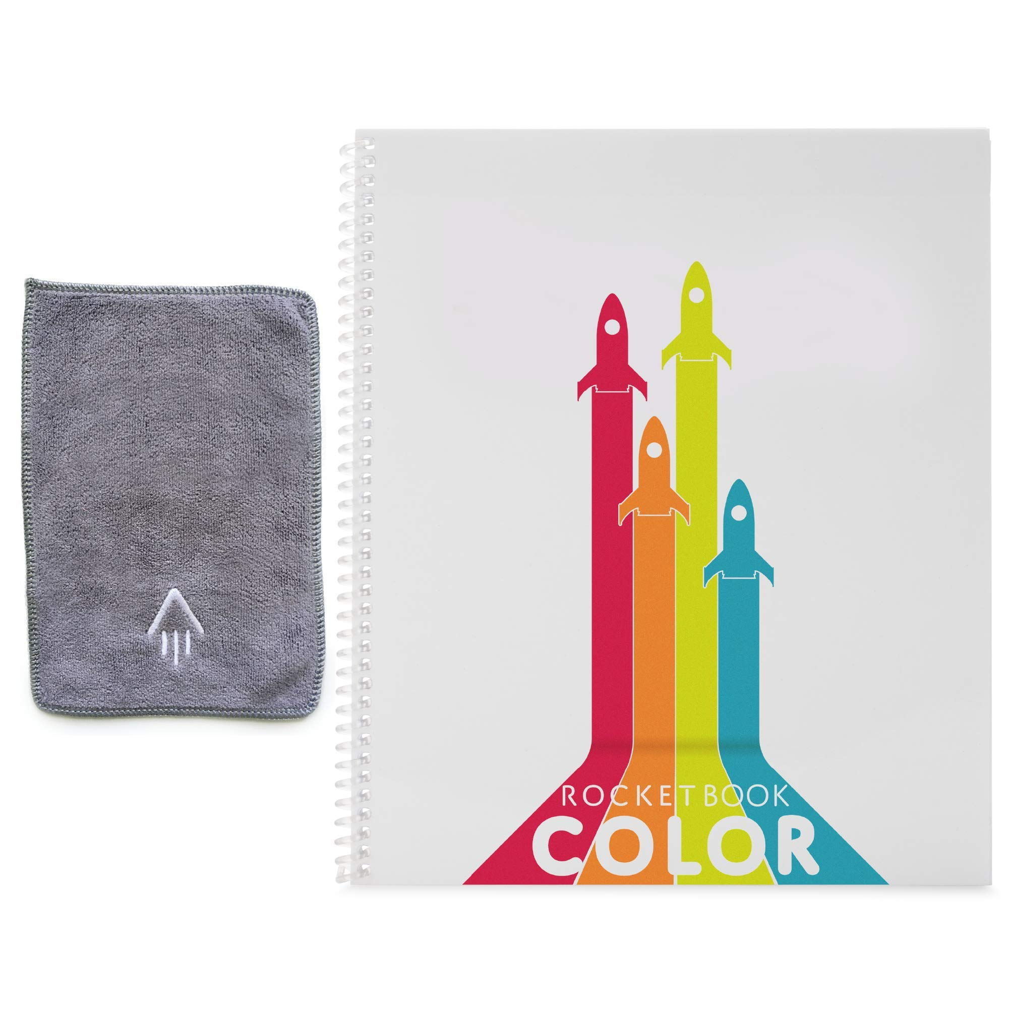 Rocketbook Color Smart Reusable Coloring Notebook - Eco-Friendly Cloud Connected Notebook Works with Dry Erase Markets & Crayons by Rocketbook