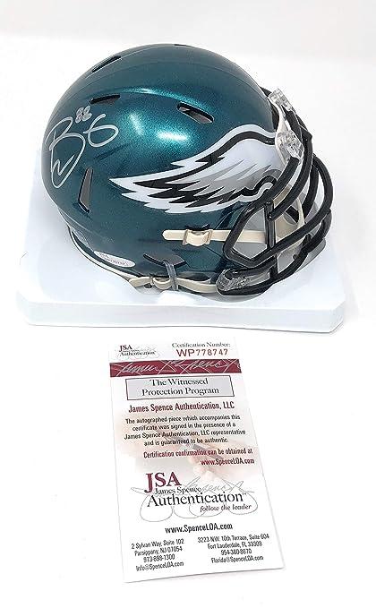 46427a72 Trey Burton Philadelphia Eagles Signed Autograph Speed Mini Helmet Helmet  JSA Witnessed Certified