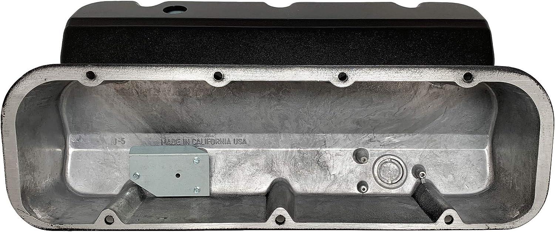 Big Block Chevy Racing 502 Laser Engraved Die-Cast Aluminum Black Valve Covers