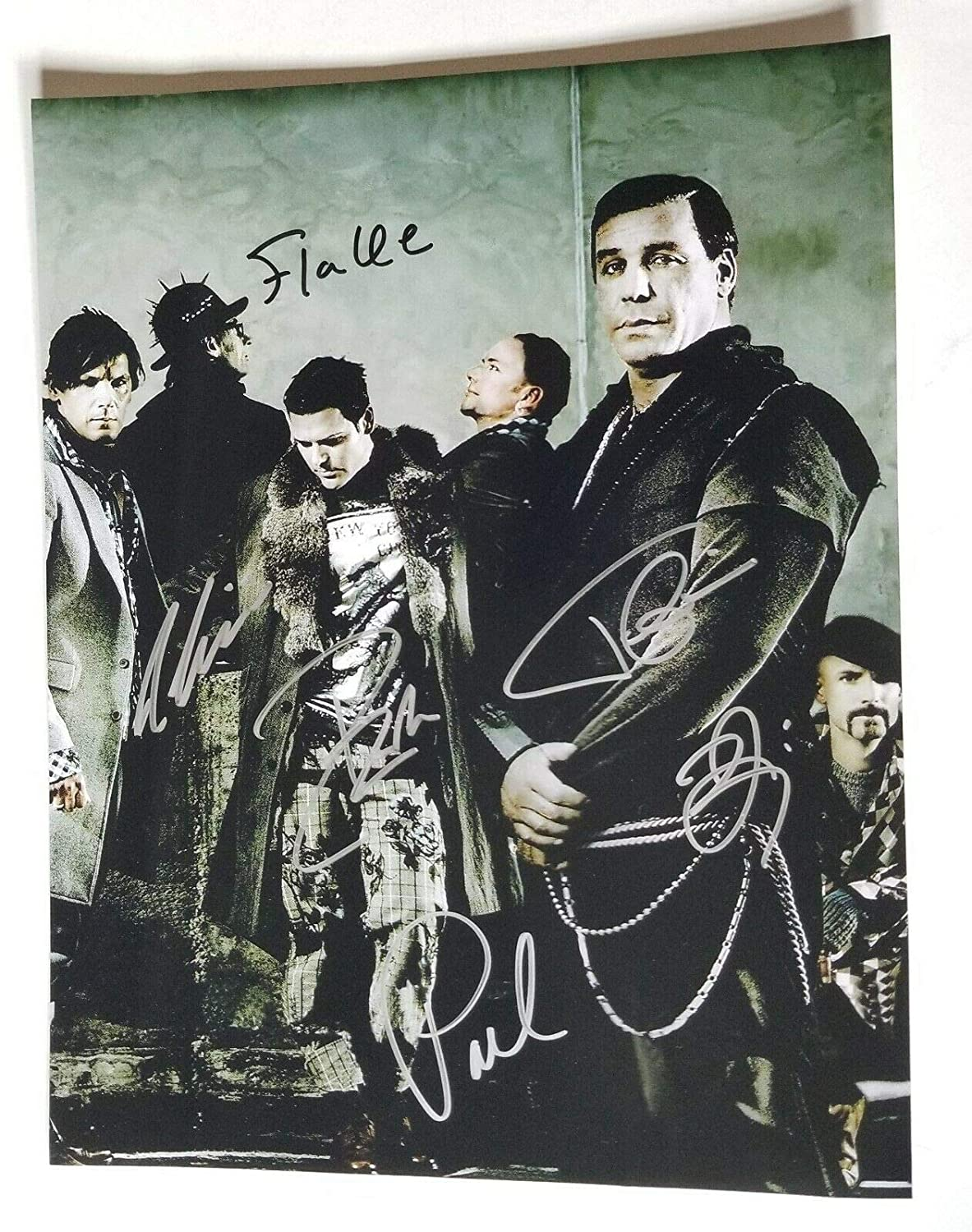 Rammstein REAL hand SIGNED 11x14