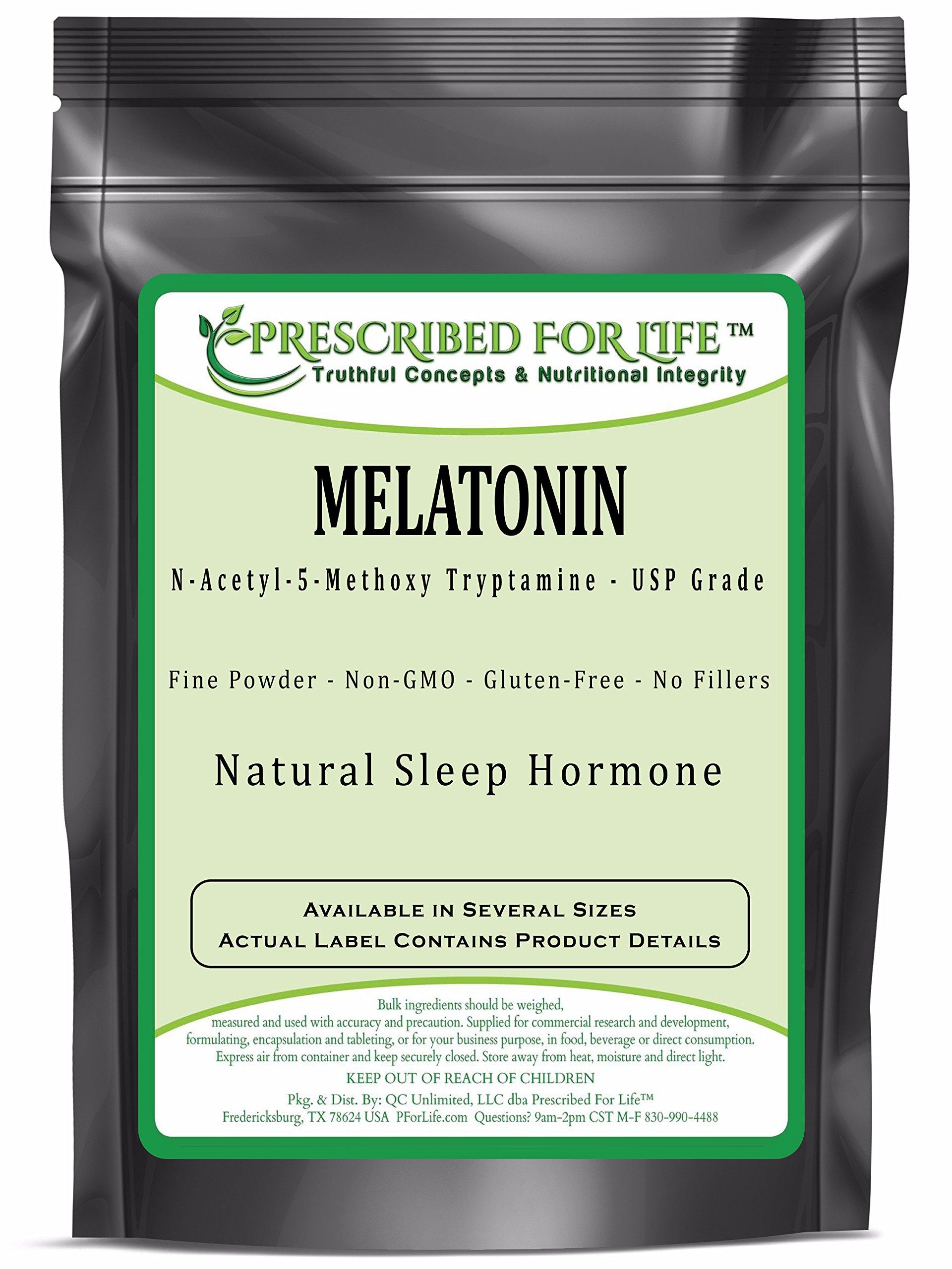 Melatonin - N-Acetyl-5-Methoxy Tryptamine Powder - Natural Sleep Hormone, 12 oz