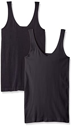 67d0363f2be7 ELLEN TRACY Women's Seamless Reversible 2 Pack Camisole at Amazon ...