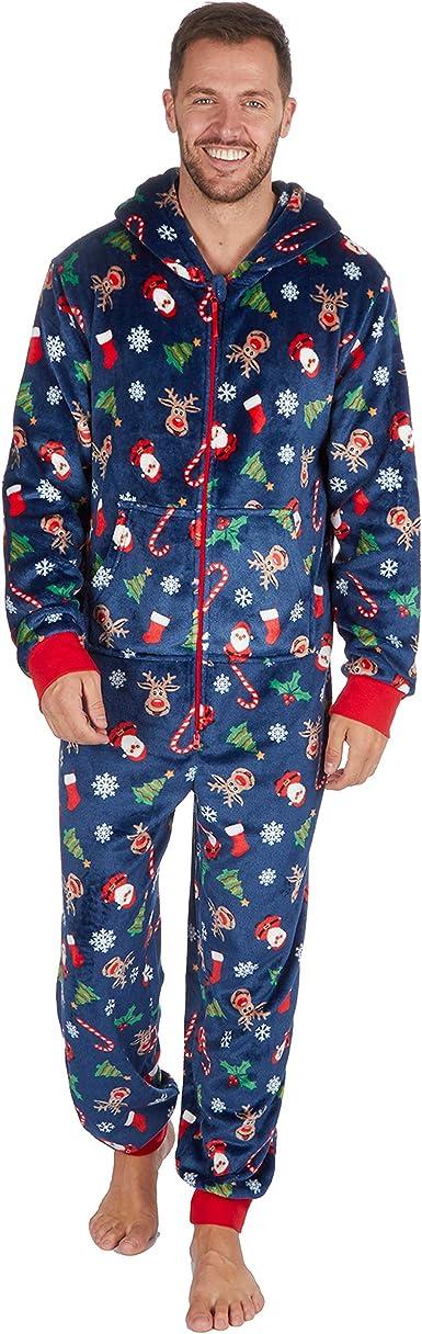 Metzuyan - Pijama de Navidad para Hombre y Mujer, Talla XS-XL de 2 a 13 años