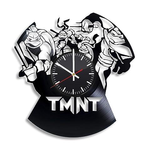 Amazon.com: TMNT Reloj de pared de vinilo, diseño de ...