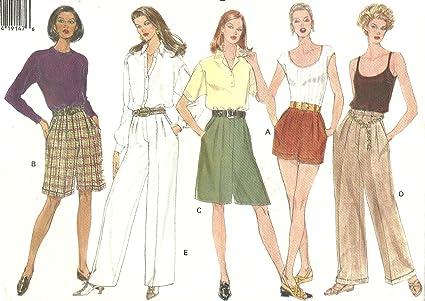 Amazon Vogue Vintage Sewing Pattern 1383 Wide Leg Pleated Pants