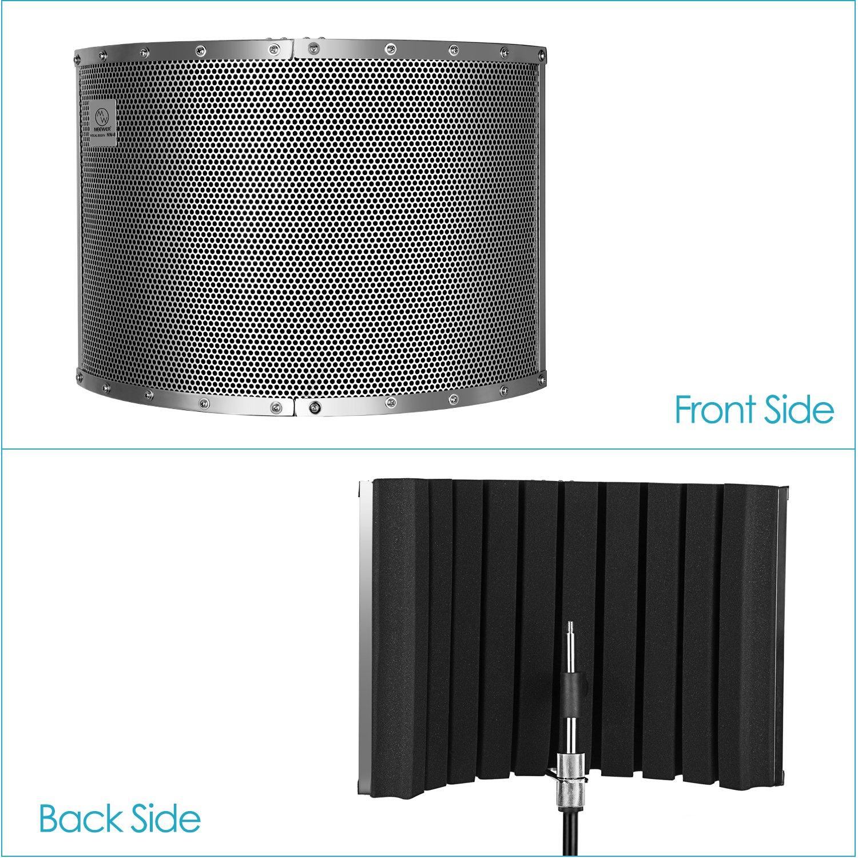 Supports et Vis pour Mic Support avec 5//8 Filetage Mousses Acoustique Neewer/® Microphone Isolation Bouclier Absorber Filtre Isolation en Aluminium L/éger