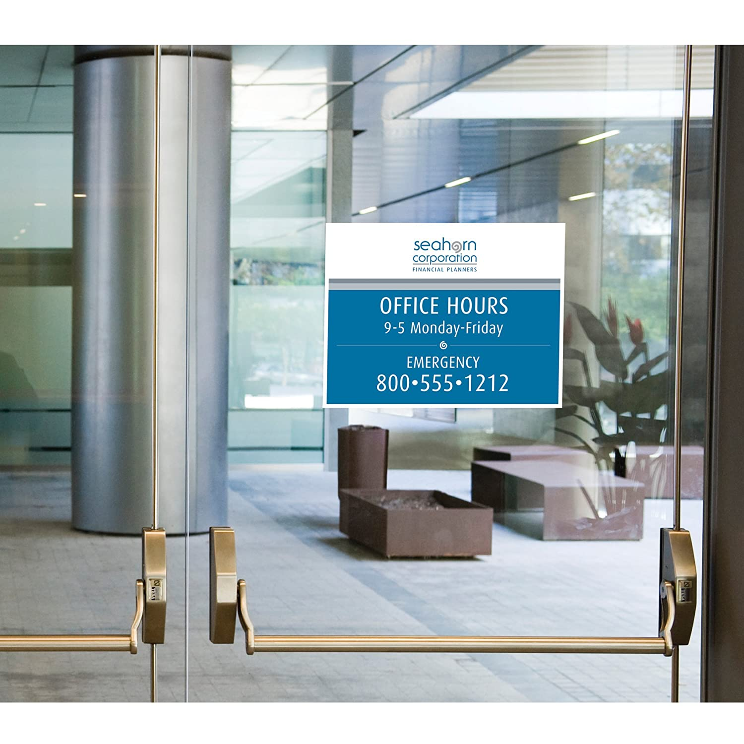 avery removable window and wall signage inkjet 8 5 x 11 inches