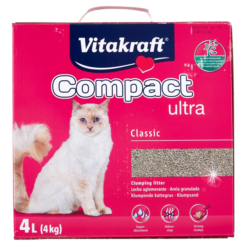 VITAKRAFT Arena Ultra agrupamiento arenero para Gatos, 4 kg ...