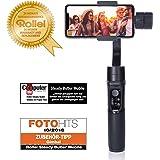 Rollei Smartphone Gimbal Steady Butler Mobile - Estabilizador de 3 ejes / Steadycam para teléfonos inteligentes con batería Power Bank integrada y aplicación gratuita