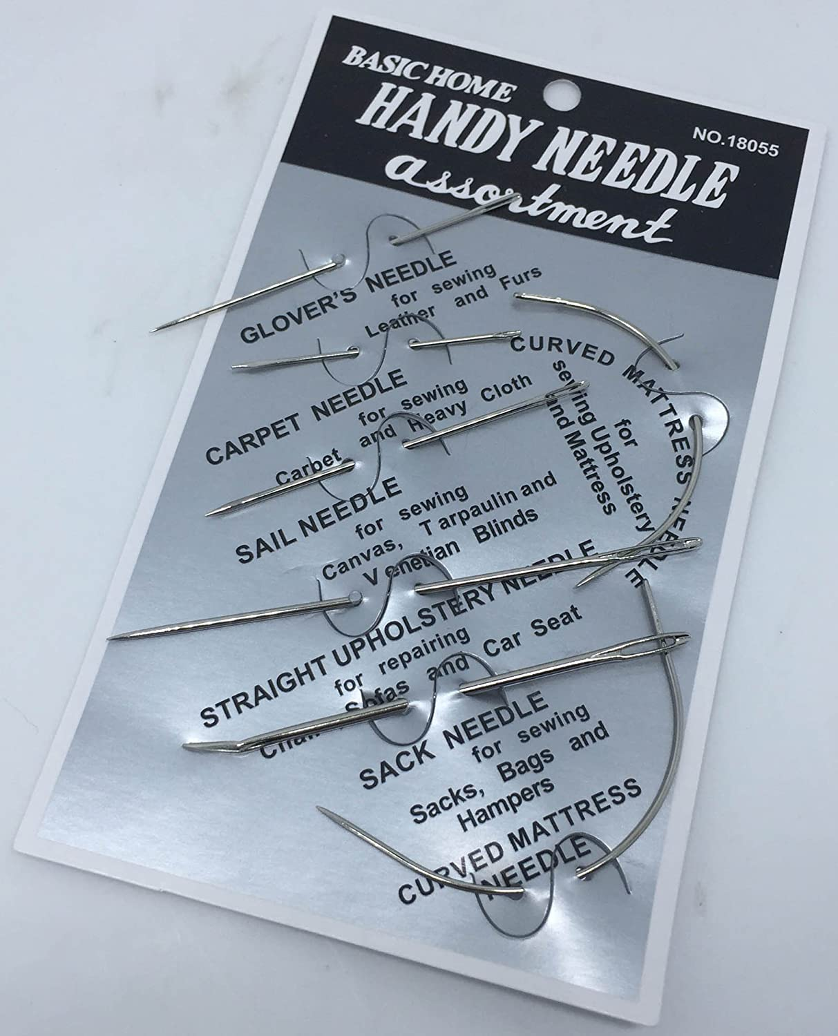 Home Handy Needles Glover/'s Leather Carpet Sail Canvas Needle Craft Set Cheap