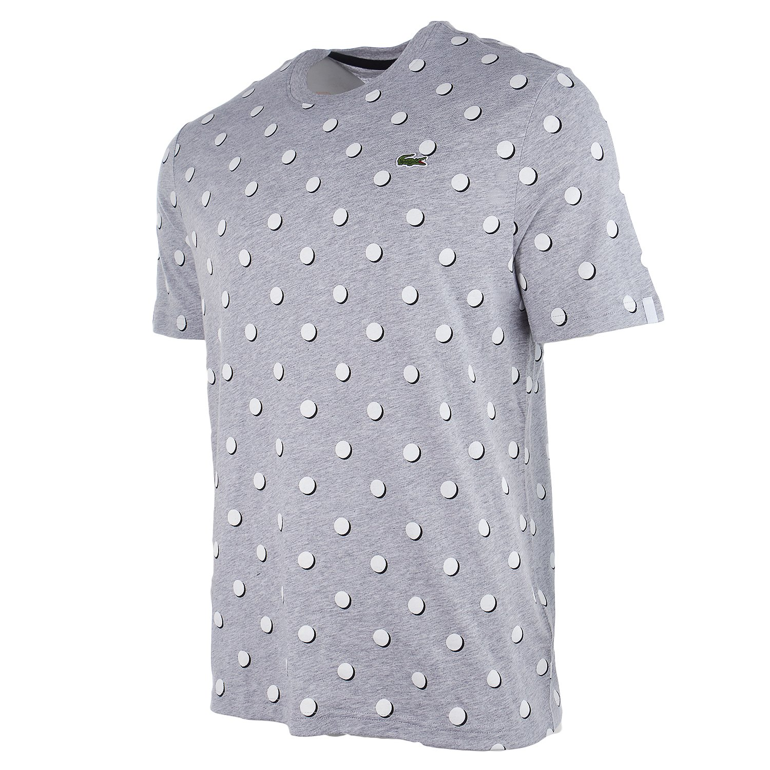 65465765dc Lacoste Men's Live Crew Neck Polka DOT Jersey T-Shirt (7-2X-Large ...