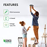 Sunco Lighting 12 Pack 6 Inch Remodel Housing, Air