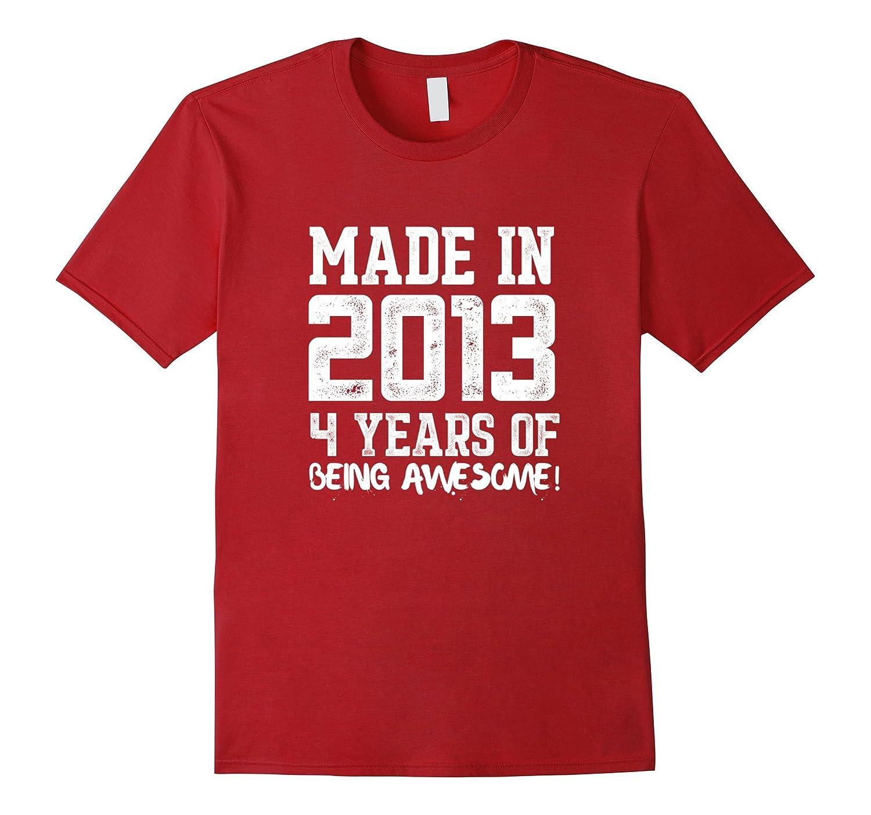 4th Birthday Shirt Gift Age 4 Year Old Boy Girl Tshirt Tee Gm Ganamatee