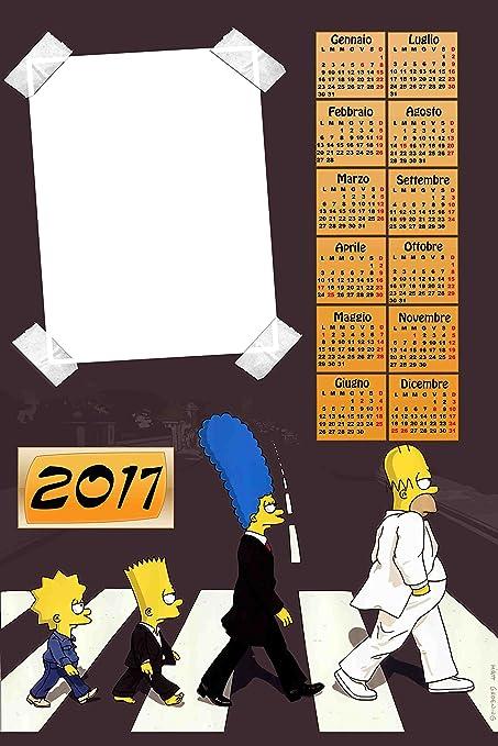 Calendrier Personnalisé 2017 Avec 1 Photos Art304 Simpson