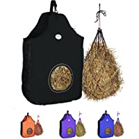 Majestic Ally 1200 D Hay Feeder Tote Bag for Horses, Sheep – Premium Quality Nylon Mesh - Reflective Trim- Simulates…