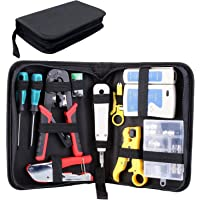 Fixkit Network Tool Kit- Crimping Toolkit For Network Cables: Test, Tools, Connectors Pro Reparatie Onderhoud LAN RJ45…