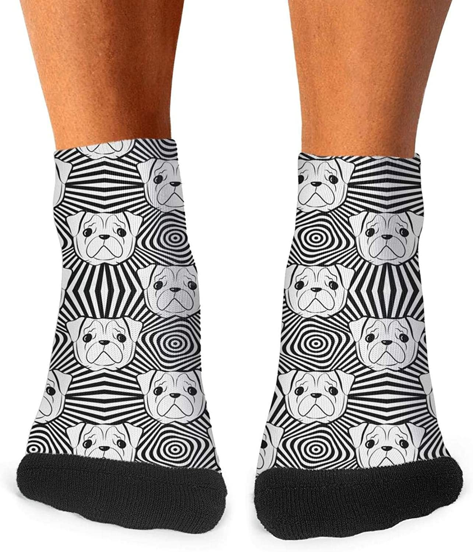 Floowyerion Mens Love Cute Bulldog Hug me Novelty Sports Socks Crazy Funny Crew Tube Socks